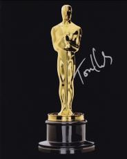 Tom Hanks Autographed Oscar Trophy 8x10 Photo - 2x Winner and 3x Nominee Academy Awards