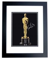 Tom Hanks Autographed Oscar Trophy 8x10 Photo BLACK CUSTOM FRAME - 2x Winner and 3x Nominee Academy Awards