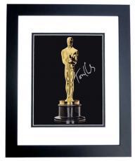 Tom Hanks Autographed Oscar Trophy 8x10 Photo BLACK CUSTOM FRAME - 2x Winner and 3x Nominee Academy Awards