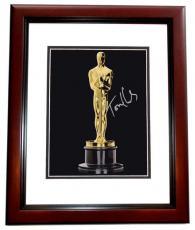 Tom Hanks Autographed Oscar Trophy 8x10 Photo MAHOGANY CUSTOM FRAME - 2x Winner and 3x Nominee Academy Awards