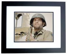 Tom Hanks Autographed Saving Private Ryan 11x14 Photo BLACK CUSTOM FRAME
