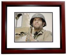Tom Hanks Autographed Saving Private Ryan 11x14 Photo MAHOGANY CUSTOM FRAME