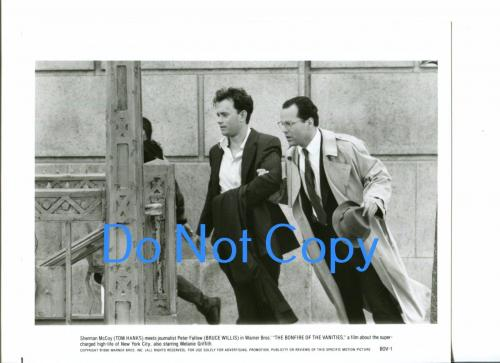 Tom Hanks Bruce Willis The Bonfire Of The Vanities Original Press Movie Photo