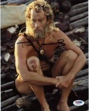 Tom Hanks Cast Away Signed 8X10 Photo Autographed PSA/DNA #W25017