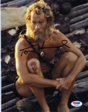 TOM HANKS Castaway Autographed Signed 8x10 Photo Certified Authentic PSA/DNA