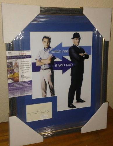 Tom Hanks Catch Me If You Can Signed Autographed 13x16 Matted & Framed Jsa Coa A