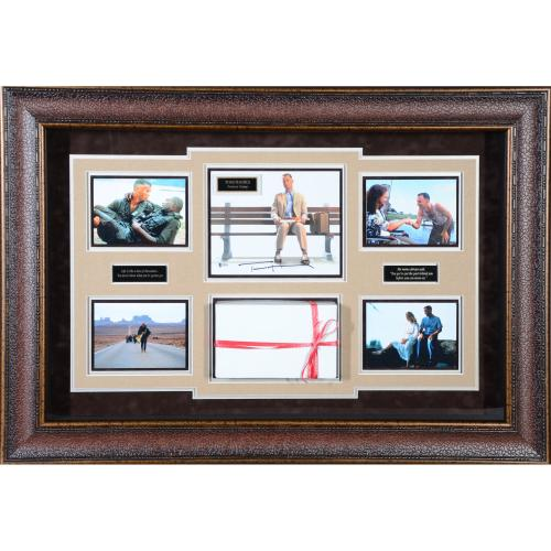 "Tom Hanks Forrest Gump Framed Autographed 42"" x 30"" Movie Collage - BAS"
