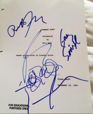 "Tom Hanks & Full Cast Signed Autograph ""forrest Gump"" Classic Movie Script X4"