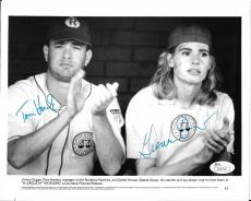 "Tom Hanks & Geena Davis ""a League Of Their Own"" Signed Autograph 8x10 Photo Jsa"
