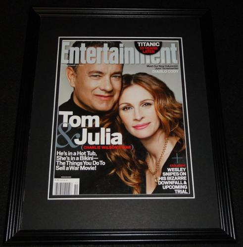 Tom Hanks Julia Roberts Framed 11x14 ORIGINAL 2007 Entertainment Weekly Cover