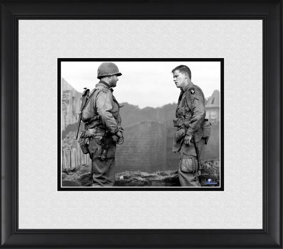 "Tom Hanks & Matt Damon Saving Private Ryan Framed 8"" x 10"" Photograph"