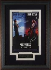 Tom Hanks Meg Ryan Signed Sleepless in Seattle Poster Framed