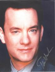 "TOM HANKS - Movies Include ""THE BIG"", ""FORREST GUMP"", ""CATCH ME IF YOU CAN"", and ""SLEEPLESS IN SEATTLE"" Signed 8.5x11 Color Paper Thin"