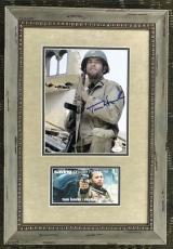 TOM HANKS ( Saving Private Ryan) signed 8x10 custom framed display-JSA COA