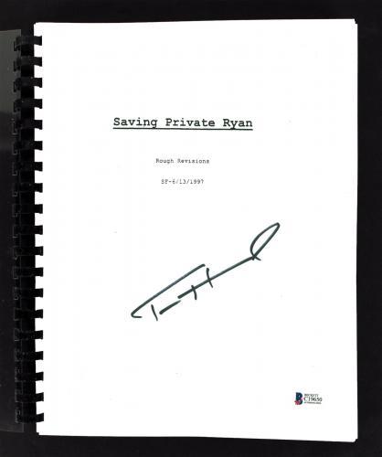 Tom Hanks Saving Private Ryan Signed Movie Script Autographed BAS