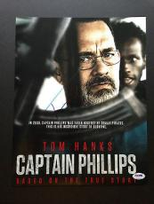 Tom Hanks Signed 11x14 Photo Autograph Psa Dna Coa Captain Phillips