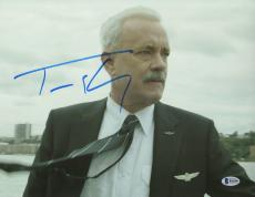 Tom Hanks Signed 11x14 Photo BAS Beckett COA Pilot Sully Movie Picture Autograph