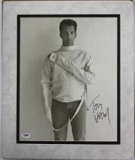 Tom Hanks Signed 12X15 Herb Ritts Photo Matted PSA/DNA #U52401