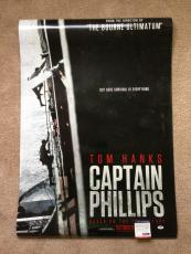 Tom Hanks Signed 27x40 Original Movie Poster Captain Phillips Psa Dna Coa Proof