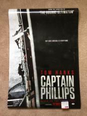 Tom Hanks Signed 27x40 Original Movie Poster Captain Phillips Psa Dna Coa Proof