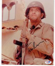 Tom Hanks signed 8x10 photo Saving Private Ryan PSA/DNA autograph