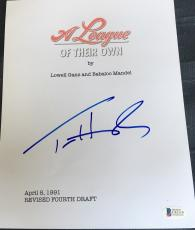 "Tom Hanks Signed Autograph Full ""league Of Their Own"" Movie Script Beckett Coa"