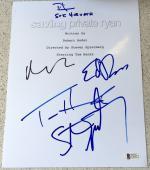 Tom Hanks Spielberg Damon Burns Signed Autograph Saving Private Ryan Script Bas