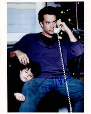 Tom Hanks Signed Autographed 8x10 Fatherly Photo AFTAL
