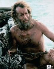 Tom Hanks Signed Autographed 8x10 Photo Castaway Full Beard GA774886