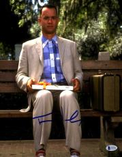 "TOM HANKS Signed Autographed ""FORREST GUMP"" 11x14 Photo Beckett BAS #C95906"