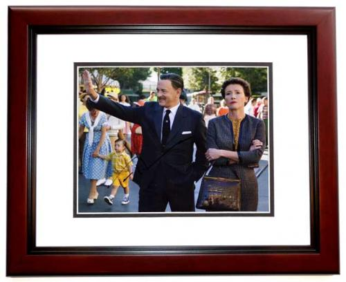 Tom Hanks Signed - Autographed Saving Mr. Banks - Walt Disney 8x10 inch Photo MAHOGANY CUSTOM FRAME - Guaranteed to pass PSA or JSA