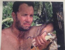 TOM HANKS Signed CASTAWAY 11x14 PHOTO with PSA COA