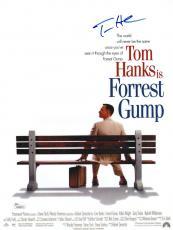 Tom Hanks Signed Forrest Gump 11 X 14 1/2 Movie Poster Jsa Coa K42215
