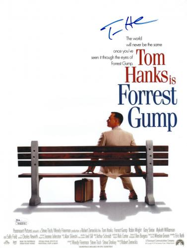 Tom Hanks Signed Forrest Gump 11 X 14 1/2 Movie Poster Jsa Coa K42215