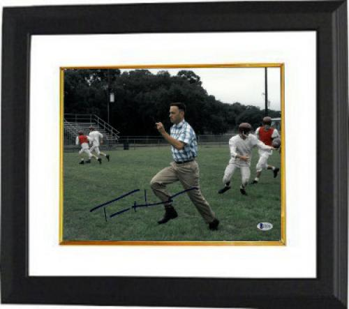 Tom Hanks signed Forrest Gump 11x14 Photo Custom Framed (Horizontal Run)- Beckett Holo #C88901