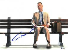 Tom Hanks signed Forrest Gump 11x14 Photo (Horizontal on Bench)- Beckett Holo #C88880