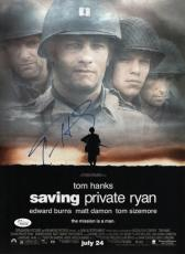 Tom Hanks Signed Saving Private Ryan 11x15 Movie Poster Jsa Coa K42216