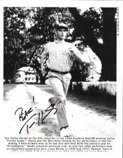 "TOM HANKS Starred as the Title Character in 1994 ACADEMY AWARD Winning Movie ""FOREST GUMP"" Signed 8.5x11 B/W Photo"