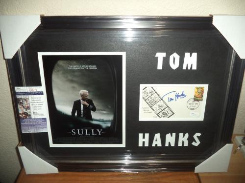 """Tom Hanks """"sully"""" Movie Signed Autographed 16x24 Double Matted Framed Jsa Coa"""