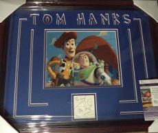 Tom Hanks Toy Story Movie Legend Jsa Coa Signed Double Matted Framed 8x10 A