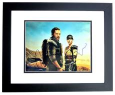 Tom Hardy and Charlize Theron Signed - Autographed Mad Max Fury Road 11x14 inch Photo BLACK CUSTOM FRAME - Guaranteed to pass PSA or JSA