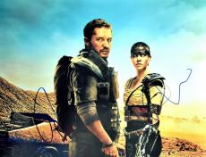 Tom Hardy and Charlize Theron Signed - Autographed Mad Max Fury Road 11x14 inch Photo - Guaranteed to pass PSA or JSA