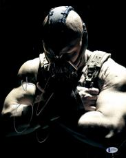 "Tom Hardy Autographed 11"" x 14"" The Dark Night Rises Bane Arms Crossed Looking Down Photograph - Beckett COA"