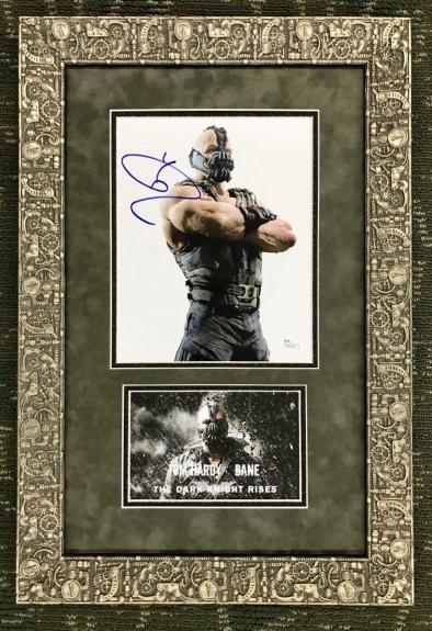 TOM HARDY (Bane-The Dark Knight Rises) custom framed display- JSA COA