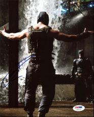 Tom Hardy Batman The Dark Knight Rises Signed 8X10 Photo PSA #Y96142