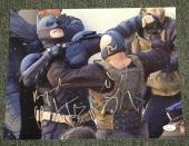 "Tom Hardy & Christian Bale Signed Autograph ""dark Knight Rises"" Photo Jsa Y51487"