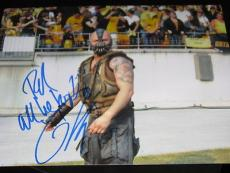 TOM HARDY SIGNED 8x10 BATMAN DARK KNIGHT BANE AUTO NY B