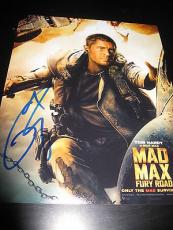 TOM HARDY SIGNED AUTOGRAPH 8x10 PHOTO MAD MAX PROMO IN PERSON COA AUTO RARE E