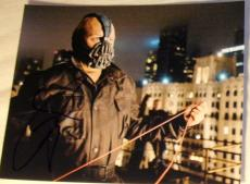 "Tom Hardy Signed Autograph ""dark Knight Rises"" Bane Roof Skyline Rare Photo Coa"