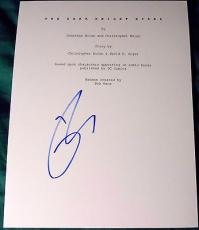 "Tom Hardy Signed Autograph ""the Dark Knight Rises"" Full 165 Page Script With Coa"